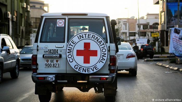 Internationales Rotes Kreuz Libyen Tripolis Geländewagen