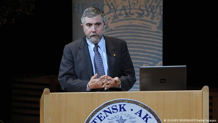 Paul Krugman u Stockholmu drži predavanje na tamošnjem sveučilištu.