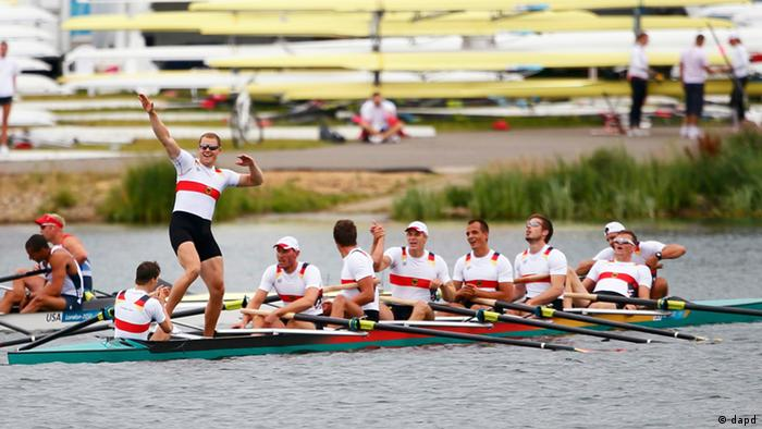 Germany's men's eight rowing team