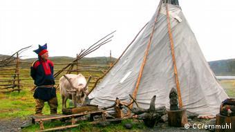 Saami Siedlung am Nordkapp