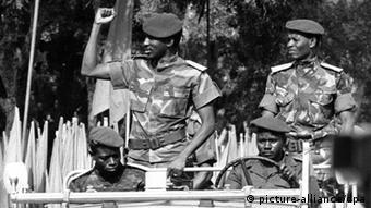 Thomas Sankara en 1985 à Ouagadougou