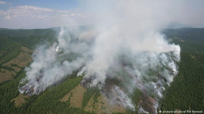 Russland Waldbrände in der autonomen Republik Tuwa in Sibiren