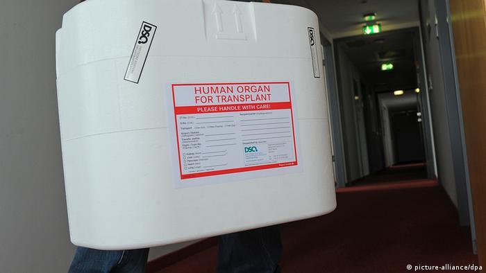 An organ transport box (Photo: Jens Kalaene dpa/lbn)