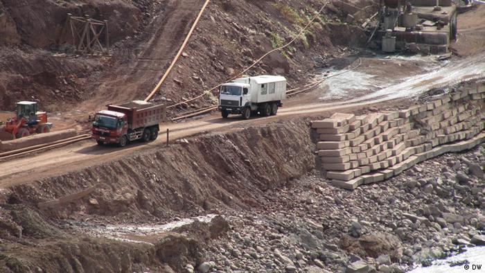 Строительные работы на Рогунской ГЭС