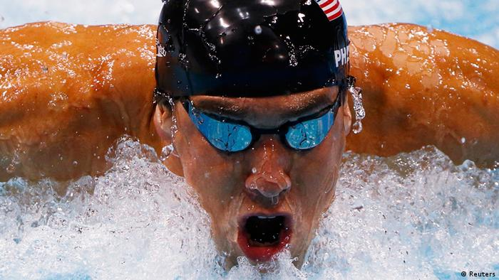 Michael Phelps of the US swims to win gold in the men's 200m individual medley final during the London 2012 Olympic Games