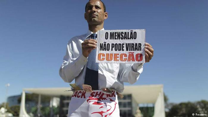 protest against corruption in Brazil