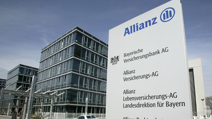 Exterior view of the Allianz Insurance Company headquarters Photo/Uwe Lein, file