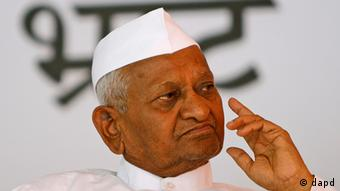 India's anti-corruption activists Anna Hazare, gestures during a protest in New Delhi, India, Friday, Aug. 3, 2012.(Photo: AP)