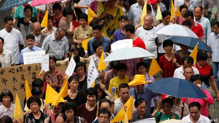 Proteste gegen Arbeitsbedingungen in China