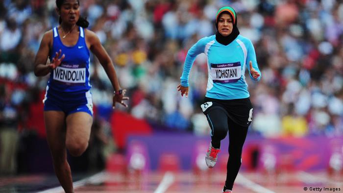 Tahmina Kohistani läuft ei den Olympischen Spielen für ihr Land. (Photo by Stu Forster/Getty Images)