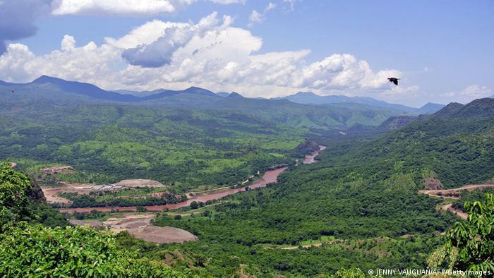 Äthiopien Omo Fluss Tal Landschaft