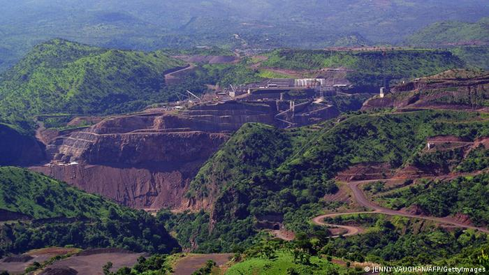 Äthiopien Omo Fluss Tal Landschaft Staudamm Gibe III