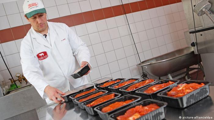 На мясном производстве в Германии