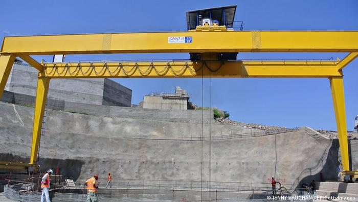 Construction work at the controversial Gibe III dam (Photo JENNY VAUGHAN/AFP/GettyImages)
