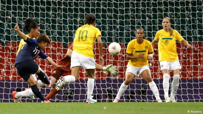 Shinobu Ohno faz segundo gol do Japão contra Brasil