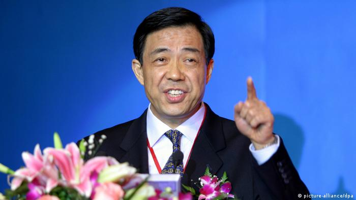 --FILE--Bo Xilai, then Governor of Liaoning province and son of former Chinese Vice Premier Bo Yibo, delivers a speech at the China Entrepreneur Summit 2003 in Beijing, China, 7 December 2003. Cut-throat Chinese politics, and not a broader ideological battle, probably led to the banishment of Bo Xilai from the top ranks of Chinas Communist Party this week, former U.S. Ambassador to China Jon Huntsman said on Thursday (12 April 2012). The decision to cast out Bo Xilai from the partys central committee follows his removal in March as party chief of Chongqing, a sprawling municipality in southwest China. The brash and controversial politician has been at the center of an unfolding scandal that led this week to his wife, Gu Kailai, being detained on suspicion of murdering British businessman Neil Heywood. Before his fall, Bo was widely seen as a contender for a post in Chinas top leadership committee, which will be decided later this year.