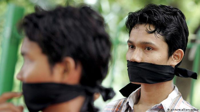 Journalisten aus Birma fordern Pressefreiheit