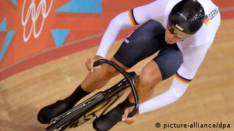 Roger Kluge of Germany competes in the Men's Sprint Qualifying at the London 2012 Olympic Games Track Cycling competition