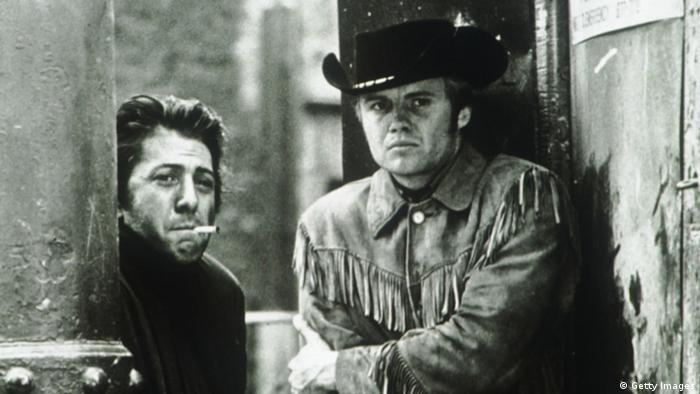 Still from 'Midnight Cowboy' with Dustin Hoffman and Jon Voight (Getty Images)
