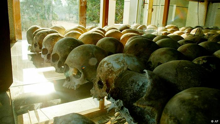 Khmer Rouge victims' remains
