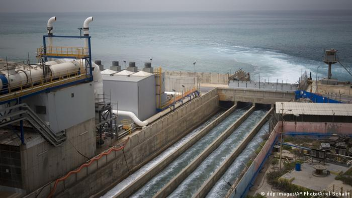 A salination plant on the sea