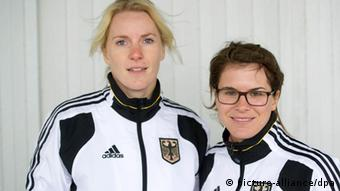 Women's sailing team Kathrin Kadelbach (right) and Friederike Belcher (left)