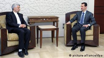 دیدار سعید جلیلی و بشار اسد در دمشق