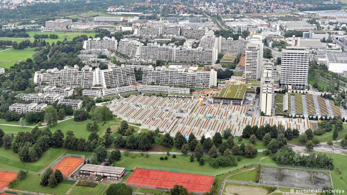 The former Olympic village in Munich from the air Photo: Peter Kneffel dpa/lby