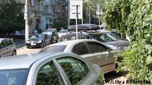 Problem mit Parkplätzen in Kyiv Ukraine
