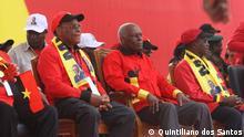 Präsident von Angola José Eduardo dos Santos eröffnet Wahlkampf