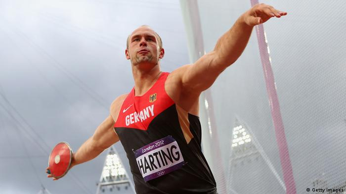Robert Harting of Germany competes in the Men's Discus Throw Final (Photo by Alexander Hassenstein/Getty Images)