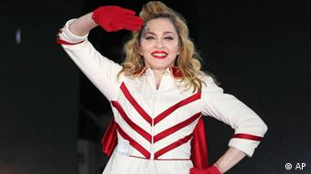 U.S. singer Madonna performs during her concert at Olympic Hall in Moscow