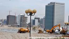 Baumaßnahmen Platz in Huambo Angola