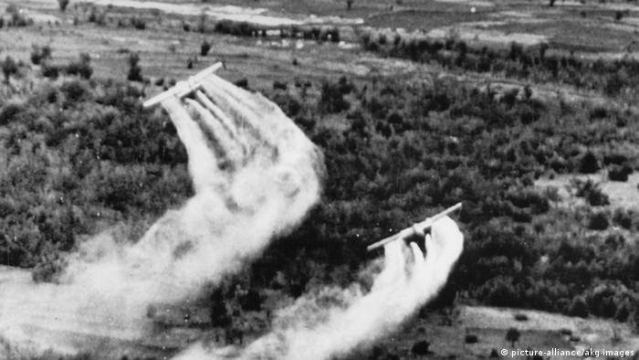Planes dropping Agent Orange on Vietnam in 1966
