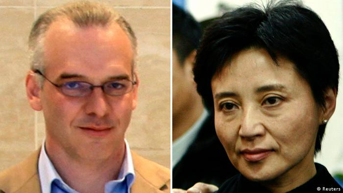 A combination of two photographs shows British businessman Neil Heywood (L) at an Aston Martin dealership in Beijing, May 26, 2010, and Gu Kailai, wife of China's former Chongqing Municipality Communist Party Secretary Bo Xilai (not pictured), at a mourning held for her father-in-law Bo Yibo, former vice-chairman of the Central Advisory Commission of the Communist Party of China, in Beijing January 17, 2007. Cold-blooded killer or scapegoat, China's Lady MacBeth or over-protective mother -- Gu Kailai remains an enigma as she is tried for murder in a case that has shaken the ruling Communist Party and placed its secretive world of political privilege under intense scrutiny. The wife of ousted Chinese politician Bo Xilai will be tried this week in the central city of Hefei. There's little doubt a pliant court will find her guilty of murdering Neil Heywood, the British businessman who helped get her son into Harrow, the exclusive boarding school, and then into Oxford University. REUTERS/Stringer/Files (CHINA - Tags: POLITICS CRIME LAW) CHINA OUT. NO COMMERCIAL OR EDITORIAL SALES IN CHINA