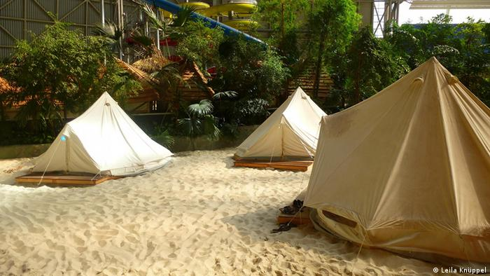 Tents at the Berlin amusement park, Tropical Islands