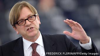 Belgien EU Europaparlament Guy Verhofstadt