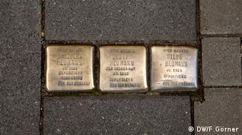 Sidewalk stones to commemorate Cologne's Jews