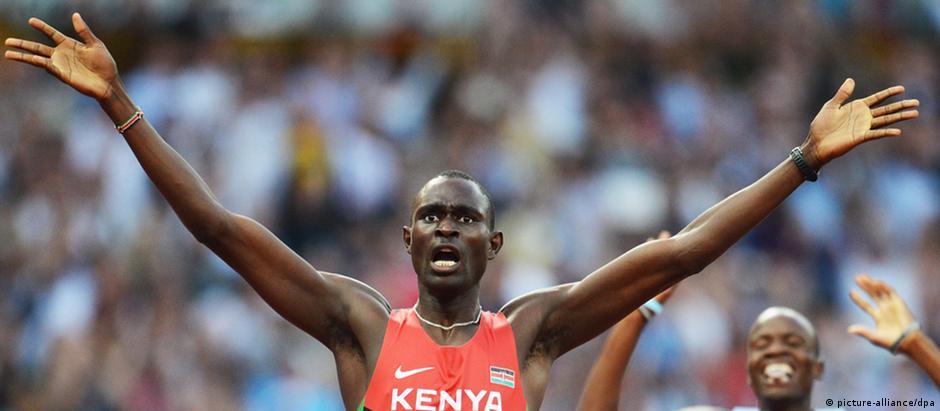 David Lekuta comemora chega nos Jogos de Londres: Quênia ganhou 11 medalhas nos Jogos de 2012