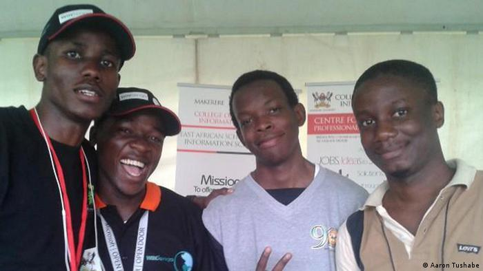 The WinSenga team (left to right): Joshua Okello, Josiah Kavuma, Aaron Tushabe and Joseph Kaizzi