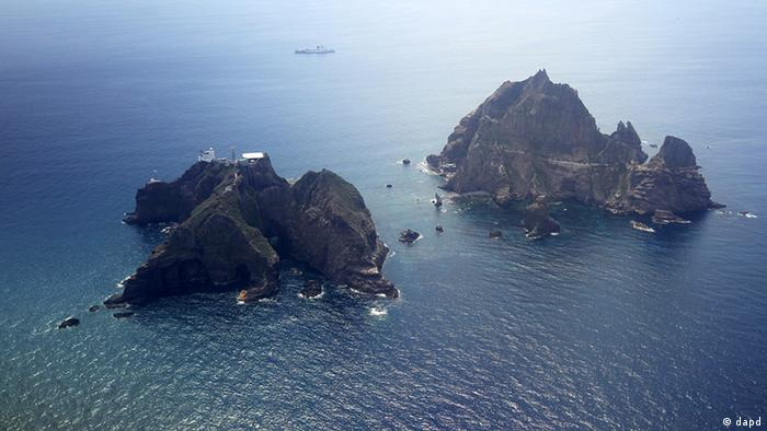 The disputed islands called Dokdo in Korea and Takeshima in Japan