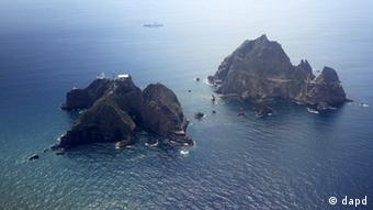 Islands called Dokdo in Korea and Takeshima in Japan (Photo:Korea Pool/AP/dapd)