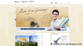 Screenshot Make it in Germany