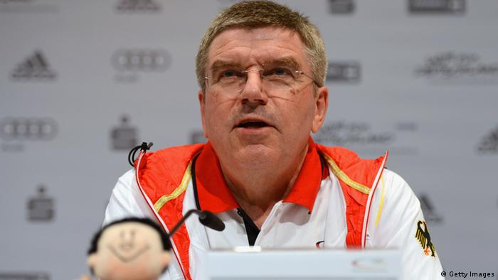 LONDON, ENGLAND - JULY 23: International Olympic Committee member Thomas Bach looks on during a German Olympic Team press conference at Deutsches Haus on July 23, 2012 in London, England. (Photo by Michael Regan/Getty Images)