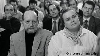 Эрвин Штриттматтер с супругой на съезде писателей ГДР