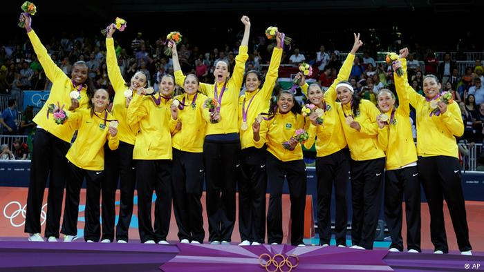Olympia London 2012 Volleyball Damen Gold Brasilien
