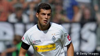 Granit Xhaka of Moenchengladbach controls the ball during the friendly match between Borussia Moenchengladbach and FC Sevilla at Borussia-Park on August 4, 2012 in Moenchengladbach, Germany.