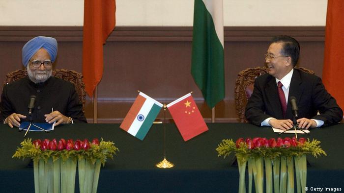 Wen Jiabao Manmohan Singh Staatsbesuch in Peking 2008 (Foto: Getty Images)