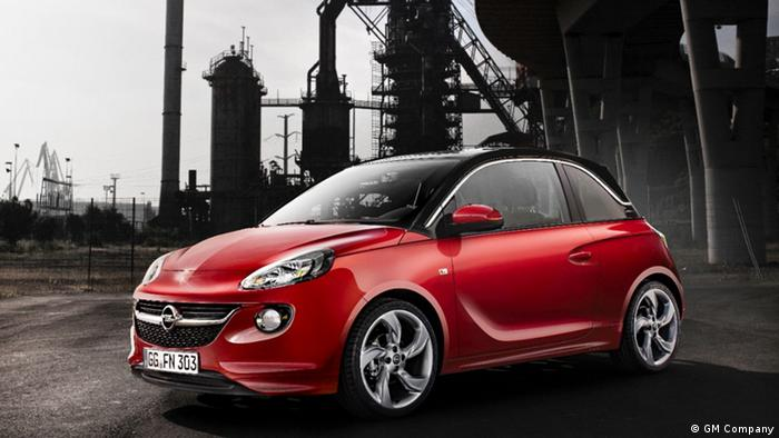 A red Opel Adam, in a company handout photo.