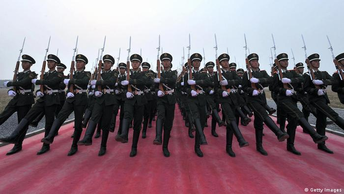 Chinese soliders; Photo: AFP/AFP/Getty Images